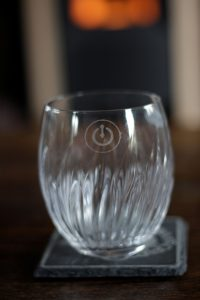 Achtergrondfoto tafeldecoratie glas
