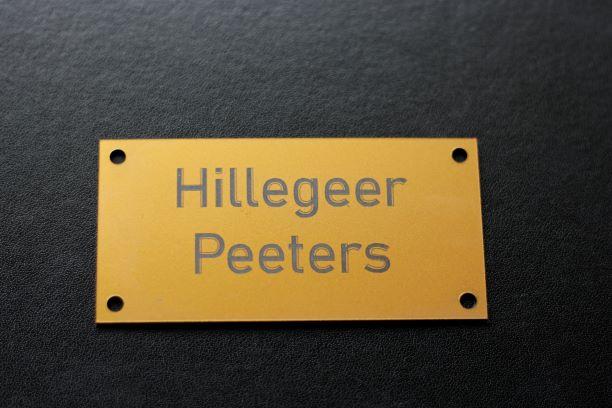 Naamplaat Hillegeer