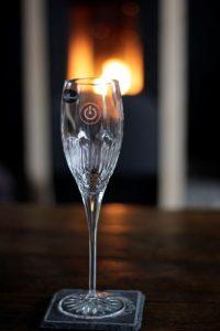 Tafeldecoratie champagneglas