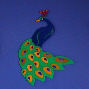 Wanddecoratie pauw